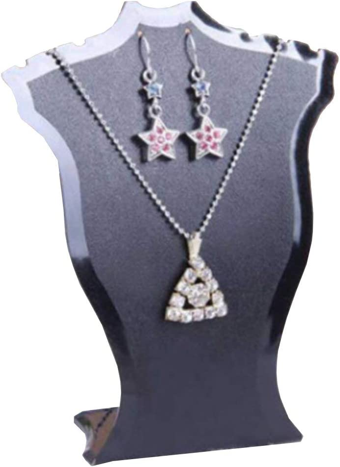 Fan-Shaped Necklace Earring Stand Bracelet Necklace Jewelry Display Stand Black