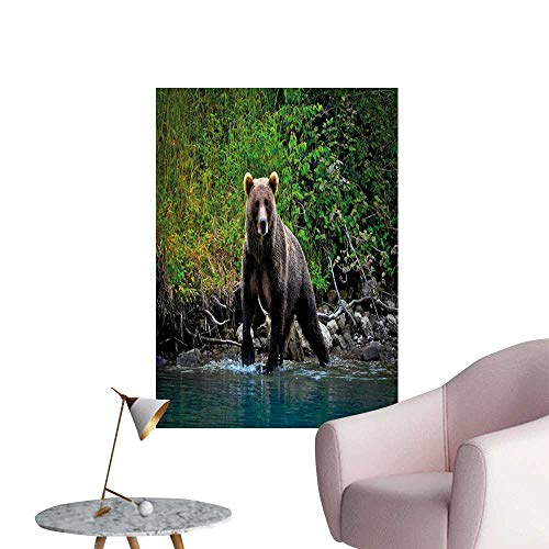 Cabin Decor Stickers Wall Murals Decals Removable Grizzly for sale  Delivered anywhere in Canada