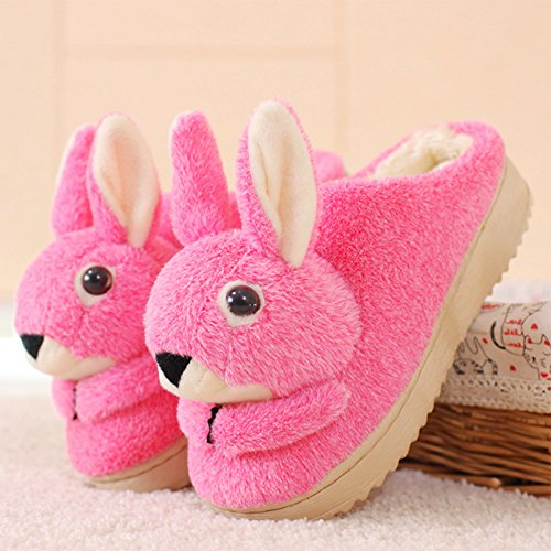 Eastlion Women Cute Animal Shape Slippers Winter Indoor Anti-skid Keep Warm Slipper Shoes Fleece Slippers House Slippers Home Shoes Pink 1cjrBycp5e