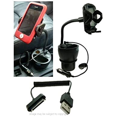 Amazon.com: Powered iPhone 4 Cup Mount Car Kit (sku 13858): Cell Phones & Accessories
