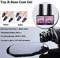 Saint-Acior Kit para Manicura de Uñas 10PCS Esmalte Semipermanente Soak off 8ml Gel Uñas 36W UV/LED Lámpara Secador de Uñas Top Coat Base Coat ...