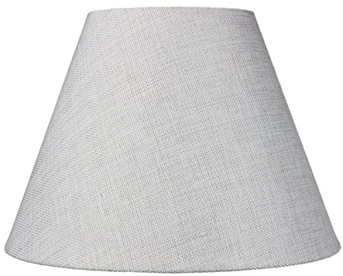 6x12x9 Hard Back Empire Lampshade - Khaki Burlap By Home Concept - Perfect for small table lamps, desk lamps, and accent lights -Medium, Khaki