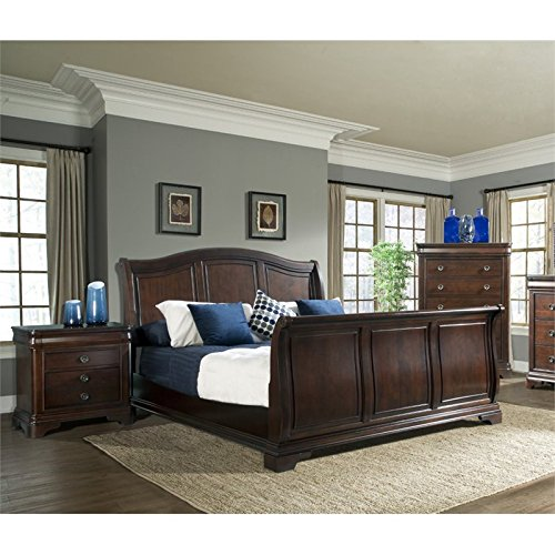 Picket House Furnishings Conley 3 Piece Queen Sleigh Bedroom Set 3 Piece Cherry Sleigh Bed