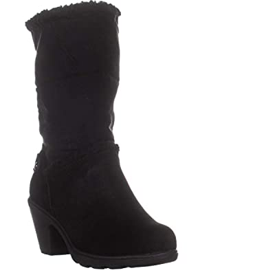 Anne Klein Sport Womens Harvest Faux Fur Cold Weather Booties | Mid-Calf