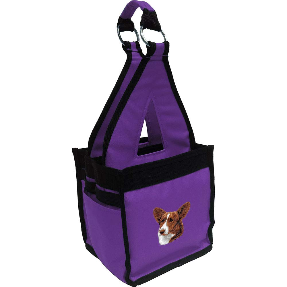Miniature Pinscher Purple Cherrybrook Breed Embroidered Blue Fig Ringside Tack Bag