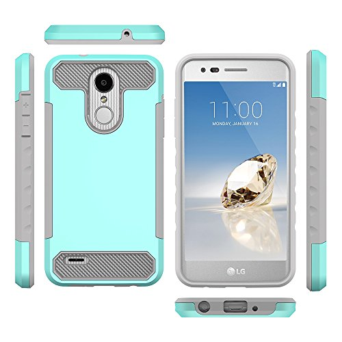 Scheam LG LV3 2018 Clear Case Ultra Thin Anti-slip TPU Cover Protective case Covers for Defender Cover Case LG LV3 2018 (Mint ()