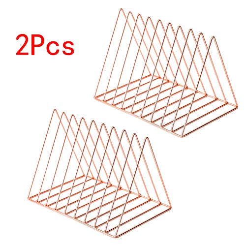 - JIARI 2 Pcs Desktop File Sorter Organizer Magazine Holder 9 Section (Rose Gold)