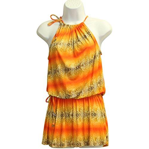 Cia Maritima Women's Ombre Mini Dress One Size Orange