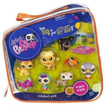 Littlest Pet Shop #2 Collectors Pack of 8 Pets Frog, Parrot, Owl, Lion, Gecko, Ferret, Dog Cat]()