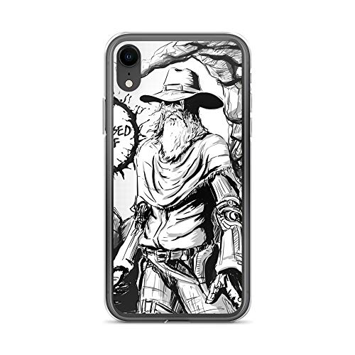 iPhone XR Case Anti-Scratch Comic Strip Transparent Cases Cover Old Man Who is Pissed Af Comics Comedian Crystal Clear