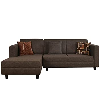 FabHomeDecor Furny Calista 5 Seater LHS Sectional Sofa Coffee Brown Amazonin Home Kitchen