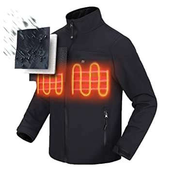 2d4c900ab Ocamo Electric Heated Jacket Heating Thermal Clothing Riding Warm Clothing  Safety Apparel with Battery and US Charger