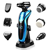 CEENWES ElectricRazor Waterproof Men Beard Trimmer Rechargeable Portable...