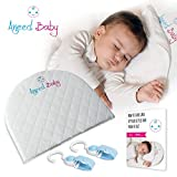 Bassinet Wedge - Crib Wedge for Baby Reflux - Infant Pillow with Waterproof Cover - Baby Pillow for Newborn Reflux and Nasal Congestion Reducer - Hypoallergenic Baby Wedge - Incline Crib Pillow
