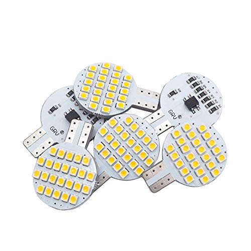 Grv T10 194 LED Light Bulb 192 C921 24-3528 SMD Super Bright DC 12V 2 Watt For Boat RV Trailer Camper Motorhome Ceiling Dome Interior Light Warm White (2nd Generation) Pack of 6