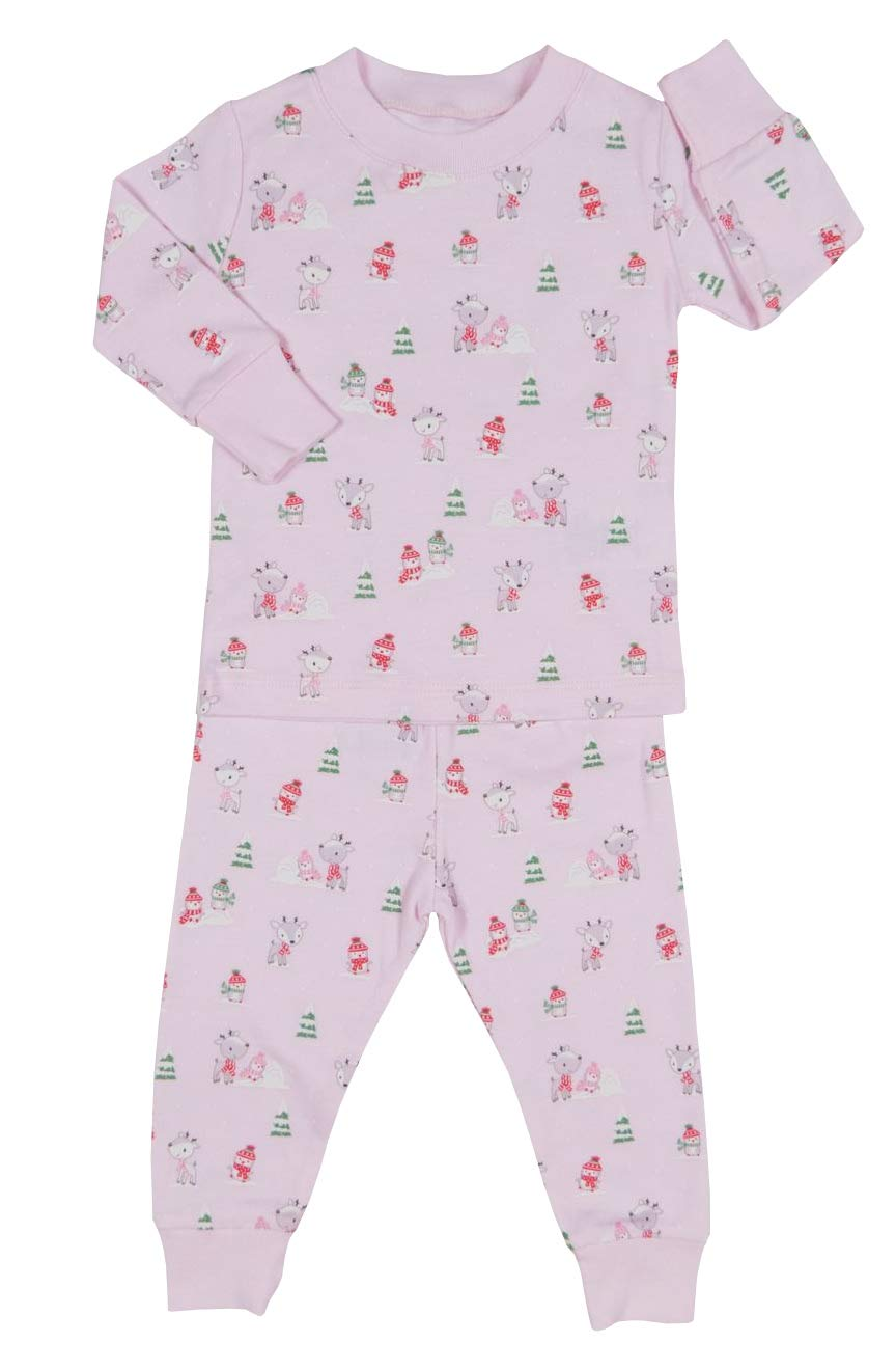 Kissy Kissy Baby-Girls Infant Snow Day Print Long Pajamas Set-Pink-18-24 Months by Kissy Kissy