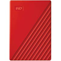 WD 4TB My Passport Portable External Hard Drive, Red - with Automatic Backup, 256Bit AES Hardware Encryption & Software Protection
