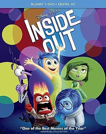 Amazon Inside Out Blu Ray DVD Combo Pack Digital Copy Amy