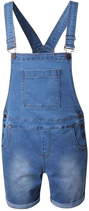 XL, Black Aiwpstoin Mens Denim Bib Overalls Fashion Jumpsuit Workwear Slim Fit Dungaree Pants Jumpsuit with Pocket