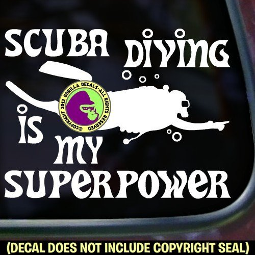 SCUBA DIVING IS MY SUPERPOWER Diver Diving Vinyl Decal Sticker C