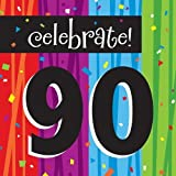 Creative Converting Milestone Celebrations Luncheon Napkins, Celebrate 90 (48-Count)