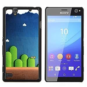 """Be-Star Único Patrón Plástico Duro Fundas Cover Cubre Hard Case Cover Para Sony Xperia C4 E5303 E5306 E5353 ( Mario Juegos"""" )"""