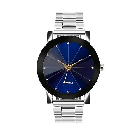 Reloj de cuarzo analógico para hombre y mujer, pantalla de cristal y redonda, resistente al agua, diseño informal, color negro: Amazon.es: Deportes y aire ...
