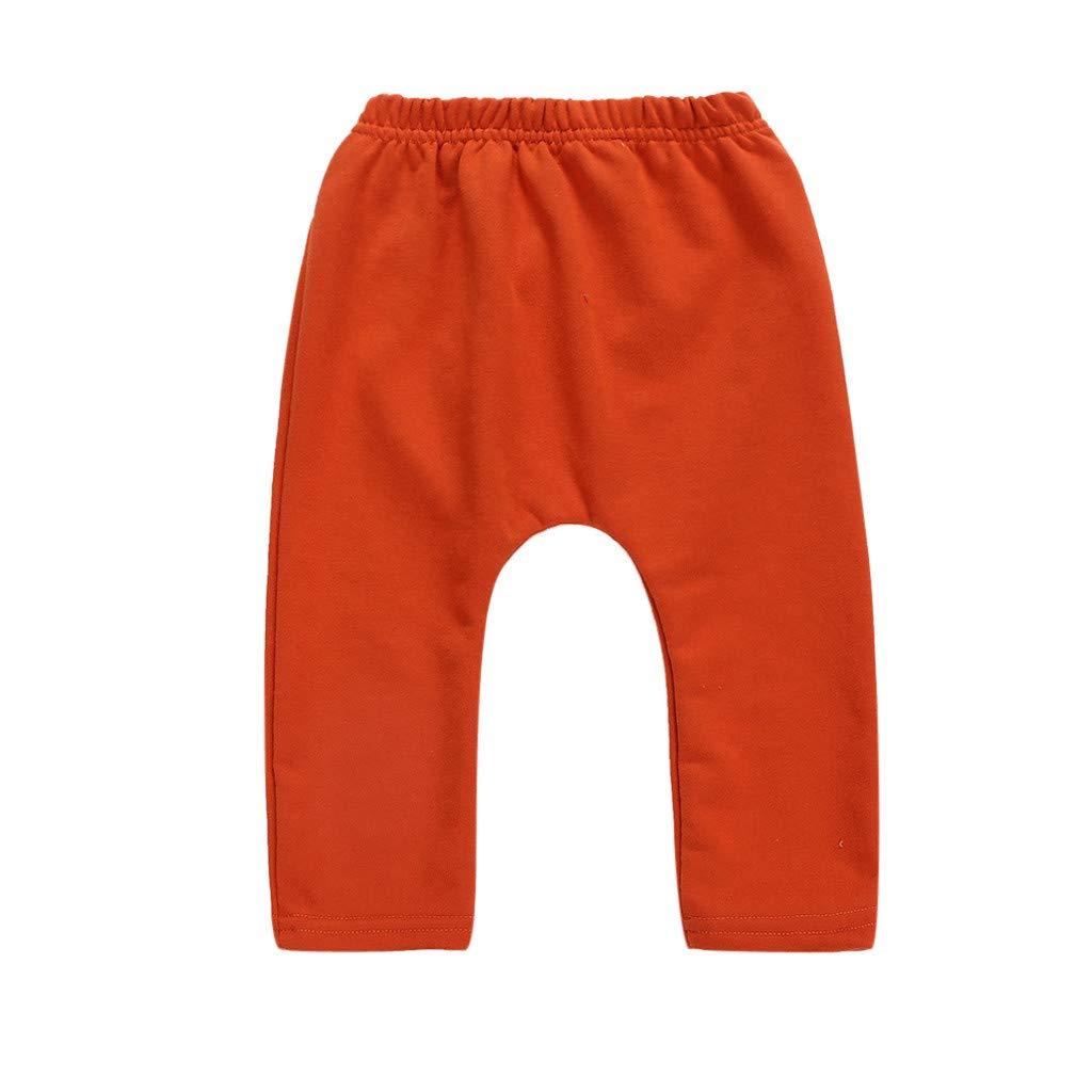 KASSD Infant Toddler Pants 3-24 Months Newborn Baby Boys Girls Cartoon Animals Cotton Casual Trousers