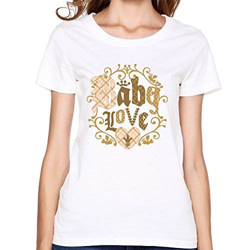 DASY women's O Neck Print T Shirt Medium