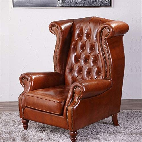 guohailang Fauteuil Fauteuil Lounge for Salon Chambre Bureau pour Salon Chambre (Color : Brown, Size : Medium)