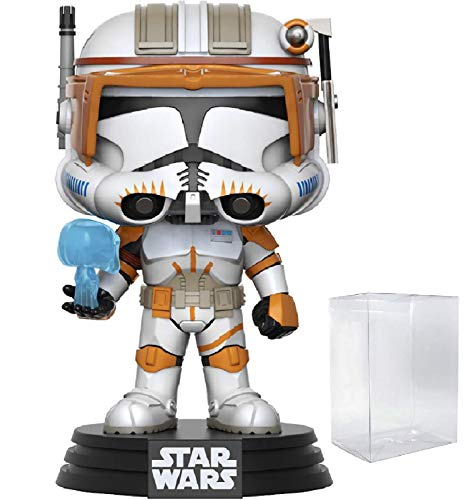Star Wars: Revenge of The Sith - Clone Commander Cody Funko Pop! Vinyl Bobble-Head Figure (Includes Compatible Pop Box Protector Case)