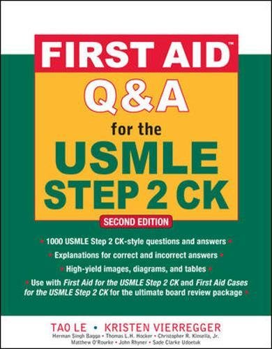 e USMLE Step 2 CK, Second Edition (First Aid USMLE) ()