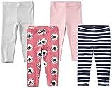 Spotted Zebra Girls' 4-Pack Capri Leggings