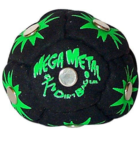 World Footbag Dirtbag Mega Metal Hacky Sack Footbag - Black (Sack Hacky Filled)