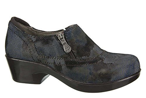 Naturalizer Womens Florence Blue Brown Abstract Dot Leather Clog Mule 9 M  B