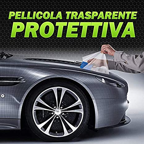 Adesivo Trasparente di Protezione AntiGraffio per paraurti Porta Auto Protettiva - Auto, Moto, Camper, Tuning 20X100cm
