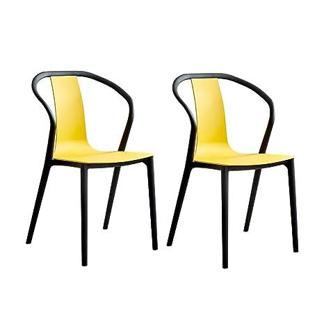 Amazon.com: Moderna silla de comedor de plástico simple para ...