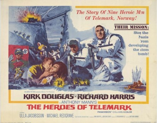 (The Heroes of Telemark POSTER Movie (22 x 28 Inches - 56cm x 72cm) (1966) (Half Sheet Style A))