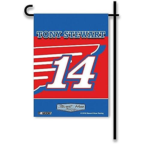 NASCAR Tony Stewart #14 2-Sided Garden Flag, Red, One Size (Garden Flag Tony Stewart)