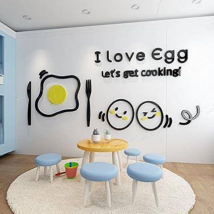 Amadoierly Love Egg Adesivi Murali In 3D Adesivi Murali In Acrilico ...