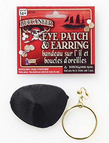 Pirate Patch And Earring (Pirate Patch and Earring Set. Costume Accessory Set)