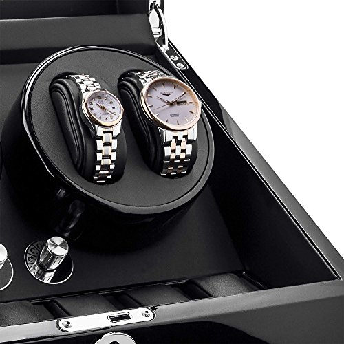 Watch-Winder-For-Rolex-Automatic-WatchesWood-Shell-Piano-Paint-Japanese-Motor-