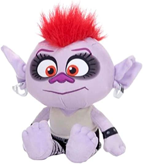 """with Open Box Trolls World Tour Queen Barb 10/"""" Plush Soft Toy"""