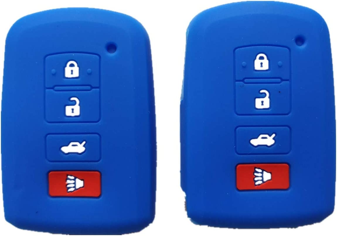 Silicone Smart Key Fob Covers Case Protector Keyless Remote Holder for 2016 2015 2014 Toyota Avalon Camry Corolla RAV4 Highlander
