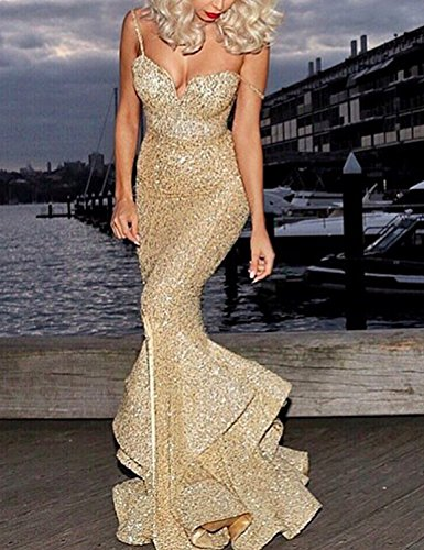 2018 Party Dresses Plus Size Sexy Evening Gowns Sequined Spaghetti Strap Prom Dresses For Women Empire Waist Mermaid Cocktail Gowns Split Side Long Formal Ball Gown DPM31 Navy Blue Size 24W