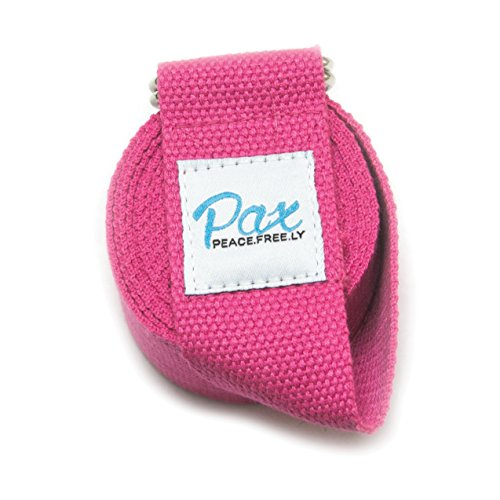 Paxfreely Stretching Strap for Rehabilitation, yoga, physical therapy, warmup, Pilates and Barre Stretching- Reach poses and hit your goals with the 8 Foot Cotton Strap comes in (3 Colors)