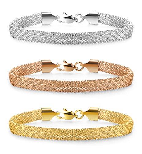 Jstyle Bracelet Stainless Bracelets Silver