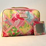 1 New Lilly Pulitzer Cosmetic Bag in Lilly Patch + Matching Mirror Estee Lauder, Bags Central