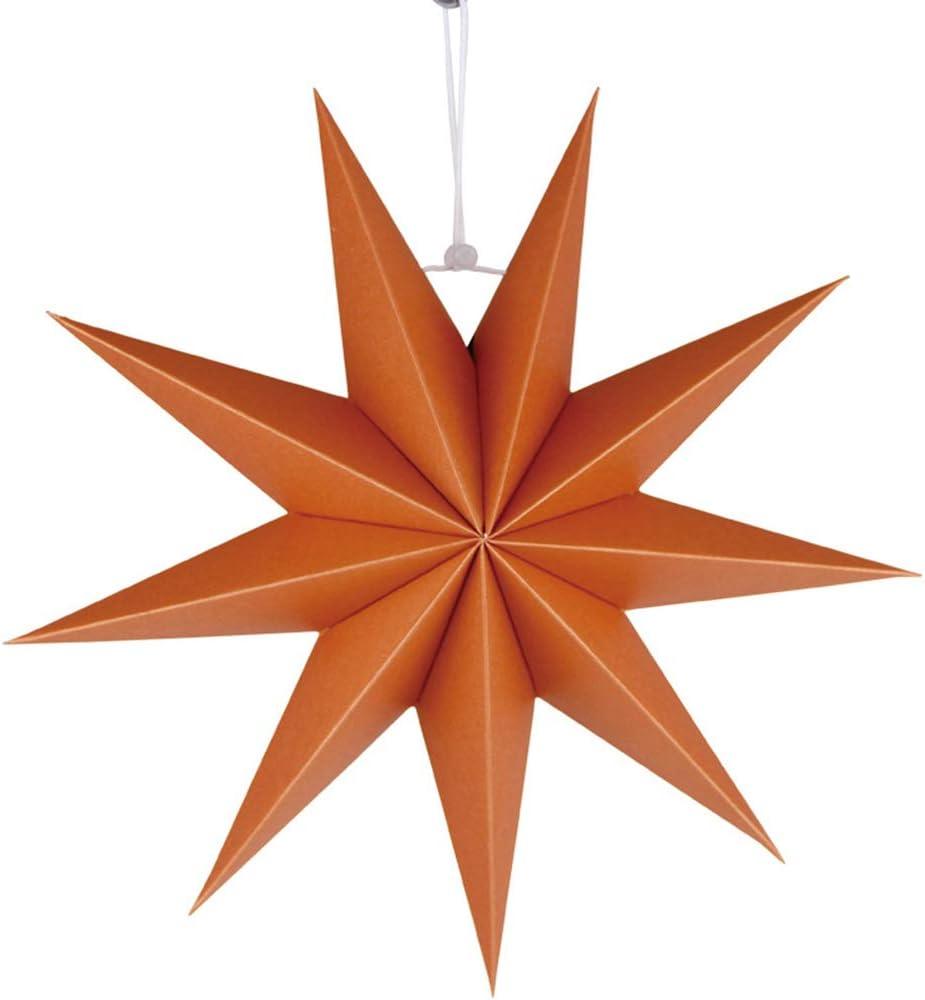 Amarillo SUPVOX linternas de Papel de Estrella Pantalla de Estrella de Papel de 9 Puntas Pantalla de l/ámpara Colgante decoraci/ón de Pared para el hogar Boda decoraci/ón de Fiesta de Navidad 30 cm