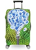 Washable Travel Luggage Cover Myosotis510 3D Flower Suitcase Protector 18-32 Inch (XL(29''-32'' luggage), Ice)